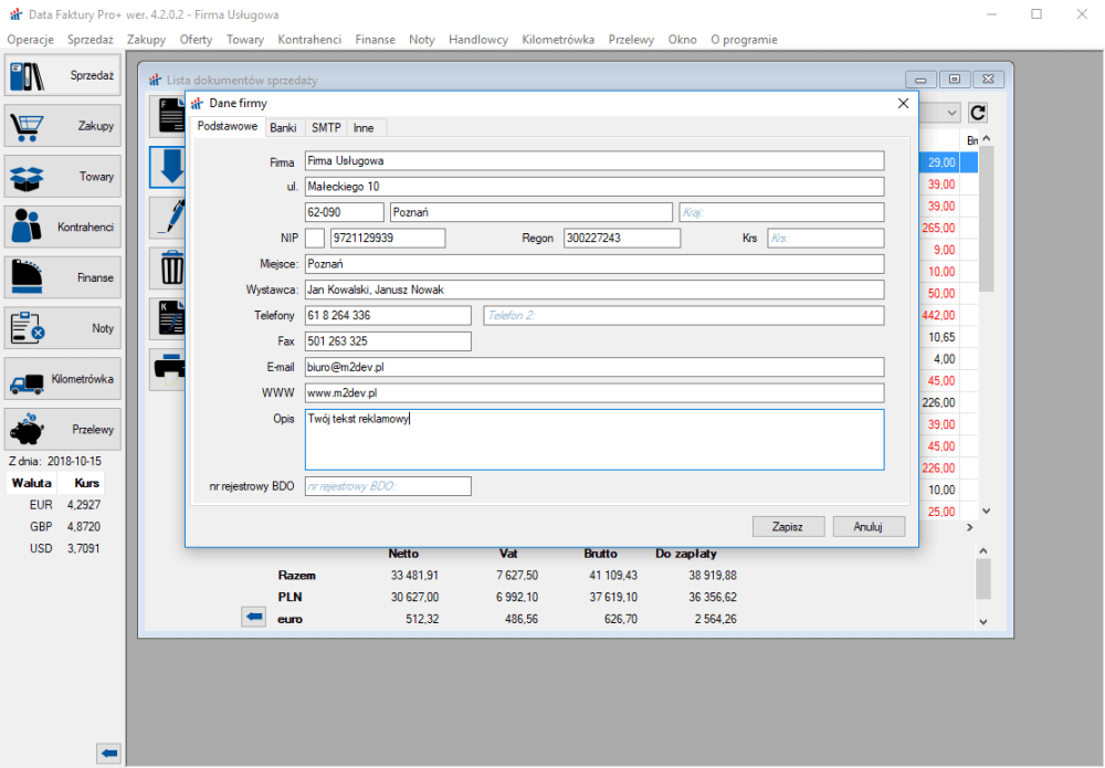 b44e919e Darmowy program do faktur Data Faktury